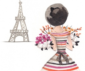 art, france, and girl image