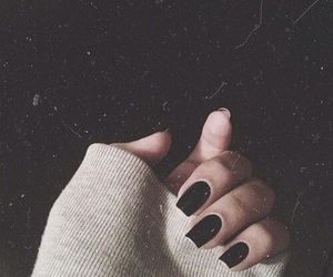 nails, black, and hand image