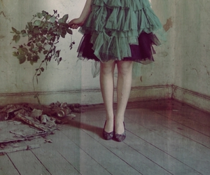 green, dress, and vintage image
