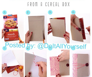 art, cereal box, and diy image