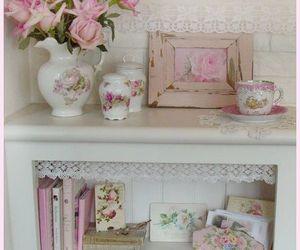 floral, pastel, and vintage image