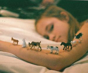 girl, animal, and vintage image