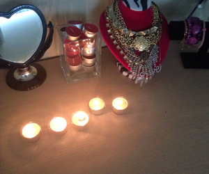 candles, pink, and jewelry image