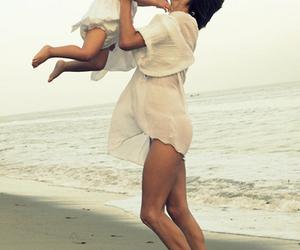 baby, beach, and mom image