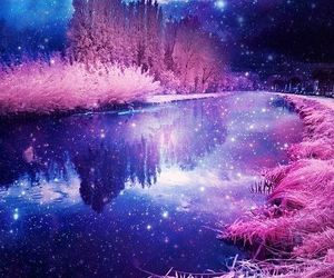 pink, galaxy, and stars image