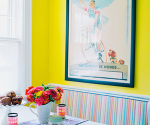 colorful, dinning room, and happy image