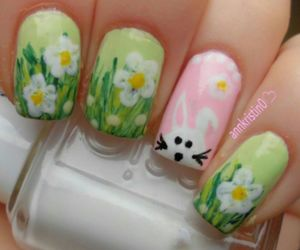 easter, green, and nail image