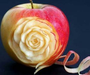 apple, design, and rose image