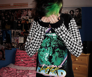 drop dead, hair, and boy image