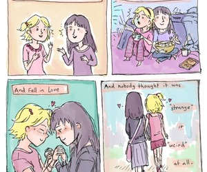 girl, lesbians, and love image
