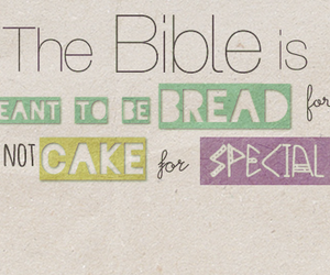 bible, bread, and cake image
