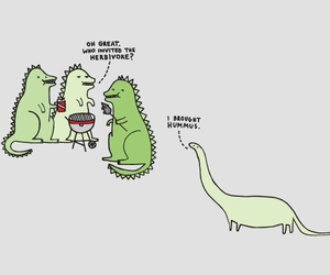 dinosaur, herbivore, and funny image