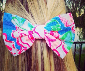 bow, hair, and lily pulitzer image
