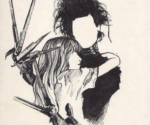 edward scissorhands, johnny depp, and drawing image