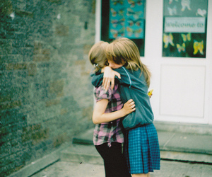 friends, girl, and hug image
