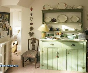 green and kitchen image