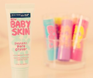baby skin, baby lips, and Maybelline image