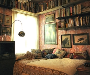 book, room, and bedroom image