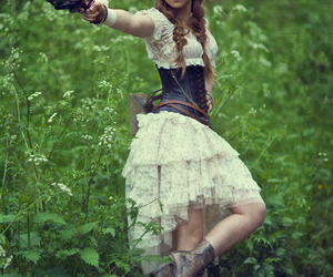 girl, steampunk, and dress image