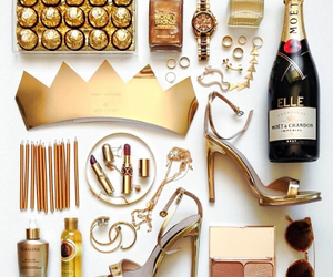 chocolate, fashion, and gold image
