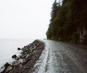 nature, road, and sea image