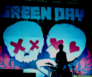 billie joe armstrong, concert, and green day image