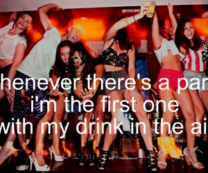 girl, party, and quote image