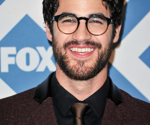 glasses, darren criss, and glee cast image