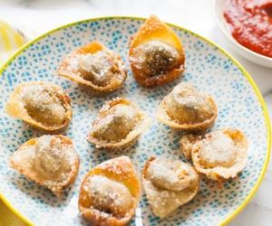 caprese, dumplings, and pesto image