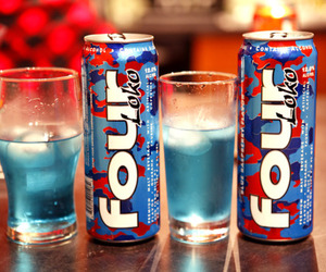 four loko, blue, and drink image