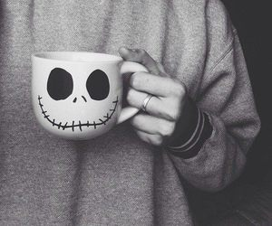 cup, black and white, and jack image