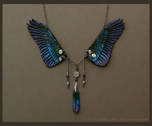 dusk, necklace, and feather image
