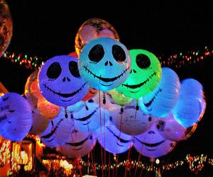 Halloween, balloons, and jack image