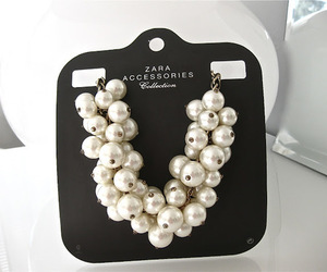 Zara, fashion, and pearls image