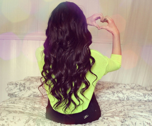 fashion, hair, and heart image
