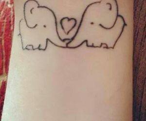 tattoo, elephant, and love image