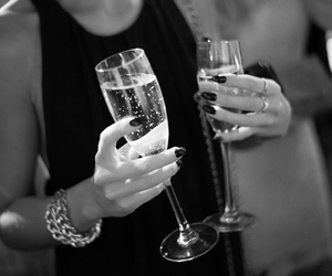champagne, drink, and fun image