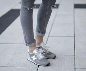 grey, new balance, and shoes image