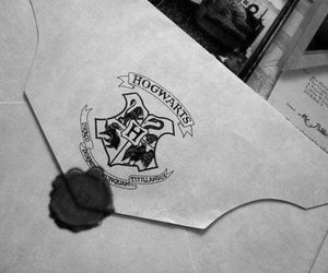 harry potter, hogwarts, and Letter image