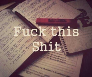 hate, quit, and school stuff image