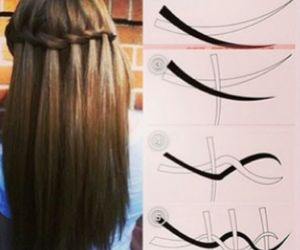 diy, hair, and waterfall image