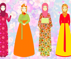 cartoon, girl, and hijab image