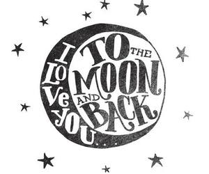 love, moon, and quote image