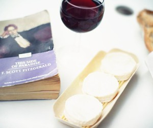 book, cheese, and food image