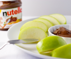 nutella, apple, and food image