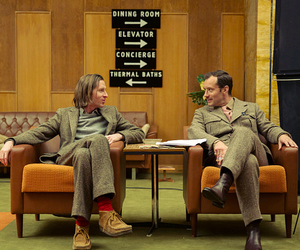 jude law, wes anderson, and the grand budapest hotel image