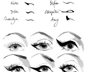 eyes, makeup, and make up image