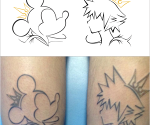 crown, kingdom hearts, and mickey image