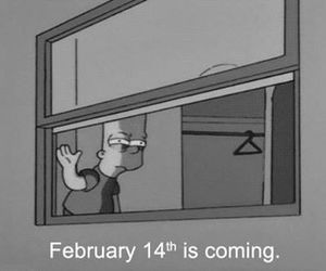 simpsons, valentine, and february image
