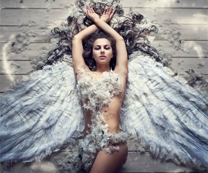angel, wings, and photography image
